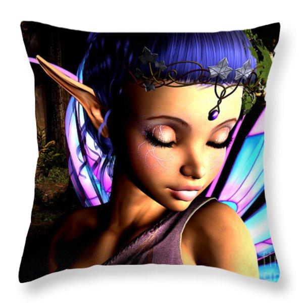 Morning Fairy  Throw Pillow by Alexander Butler