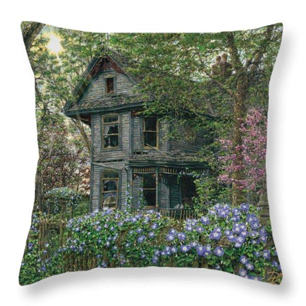 Morning Glory Throw Pillow by Doug Kreuger