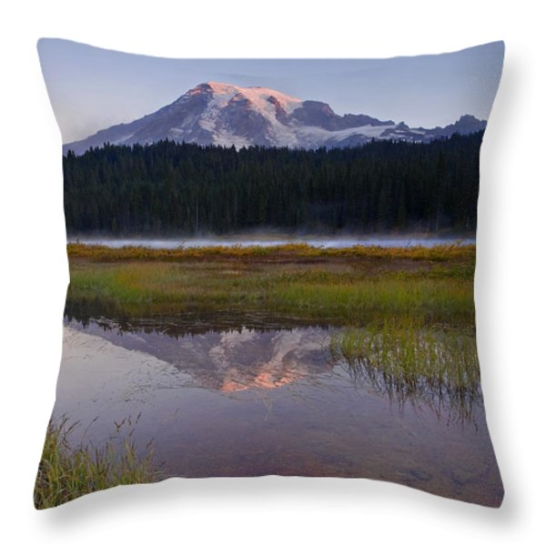 Morning Glow Throw Pillow by Mike  Dawson