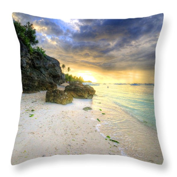Morning Glow Throw Pillow by Yhun Suarez