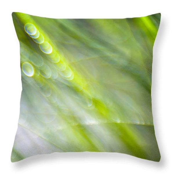 Morning Grass Throw Pillow by Silke Magino