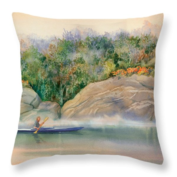 Morning Mist High Island Throw Pillow by Marguerite Chadwick-Juner