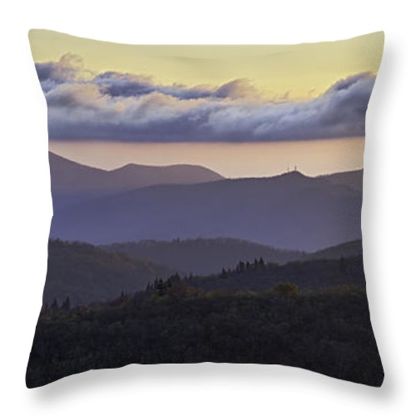Morning on the Blue Ridge Parkway Throw Pillow by Rob Travis
