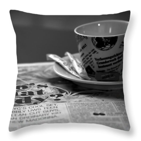 Morning Read Throw Pillow by Evelina Kremsdorf
