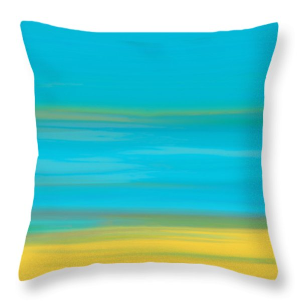 Throw Pillow featuring the painting Morning Sea by Frank Tschakert