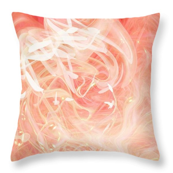 Morning Star Throw Pillow by Linda Sannuti
