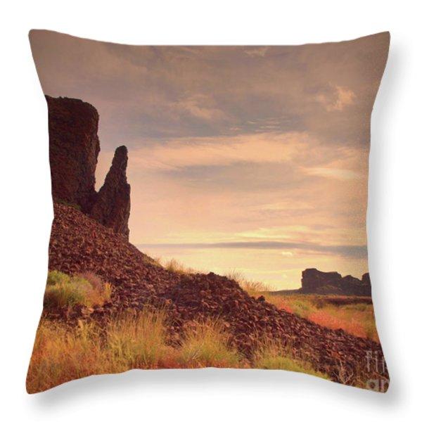 Morning Trek Throw Pillow by Tara Turner