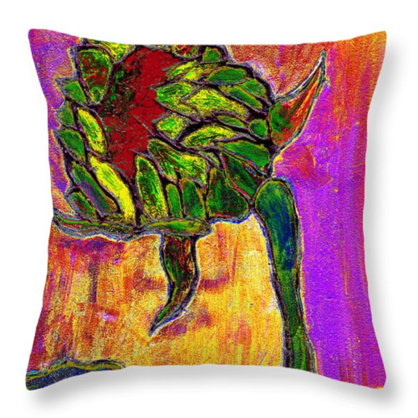 Mornings Glow Throw Pillow by Wayne Potrafka