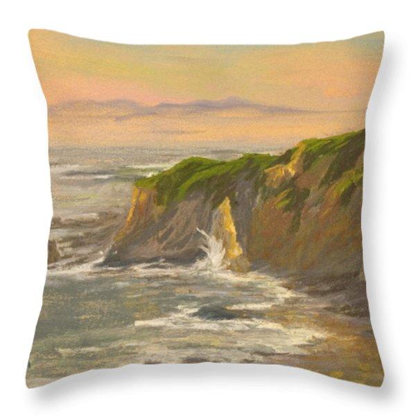 Morning's Highlight Throw Pillow by Timon Sloane