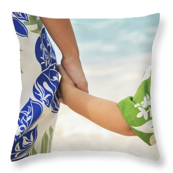 Mother And Son Throw Pillow by Brandon Tabiolo - Printscapes