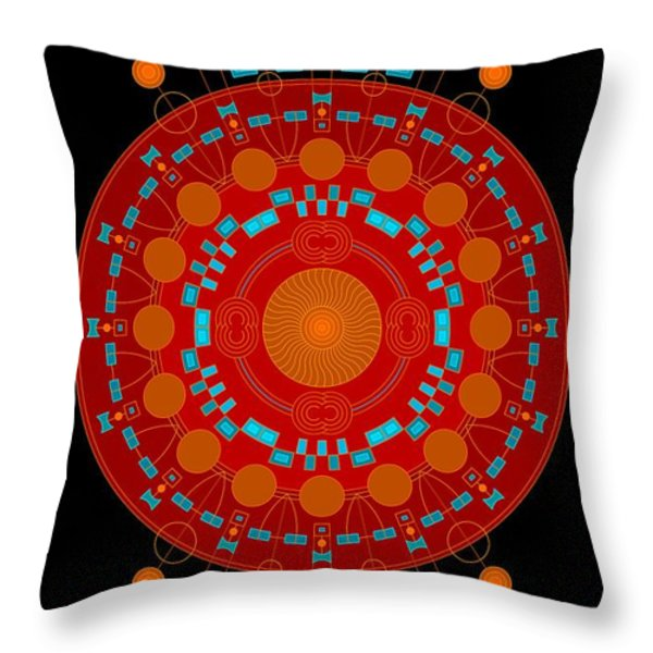 Mother color Throw Pillow by DB Artist