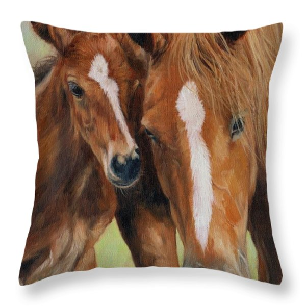 Mother Love Throw Pillow by David Stribbling