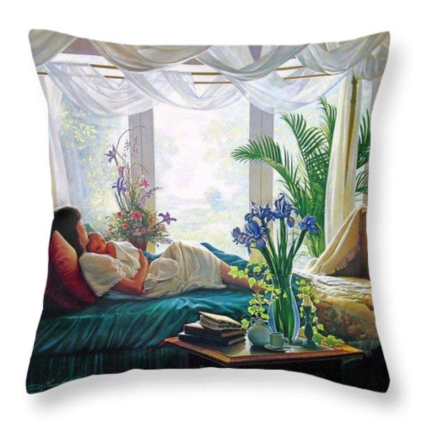 Mother's Love Throw Pillow by Greg Olsen
