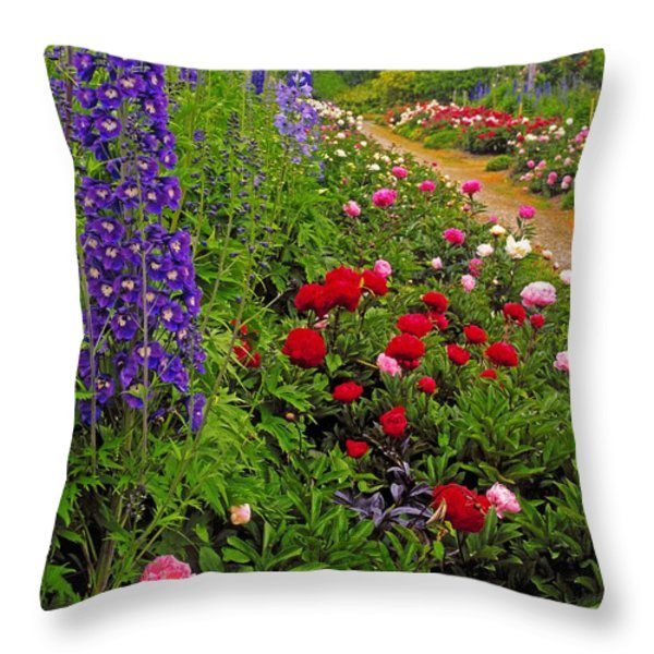 Mount Congreve Gardens, Co Waterford Throw Pillow by The Irish Image Collection