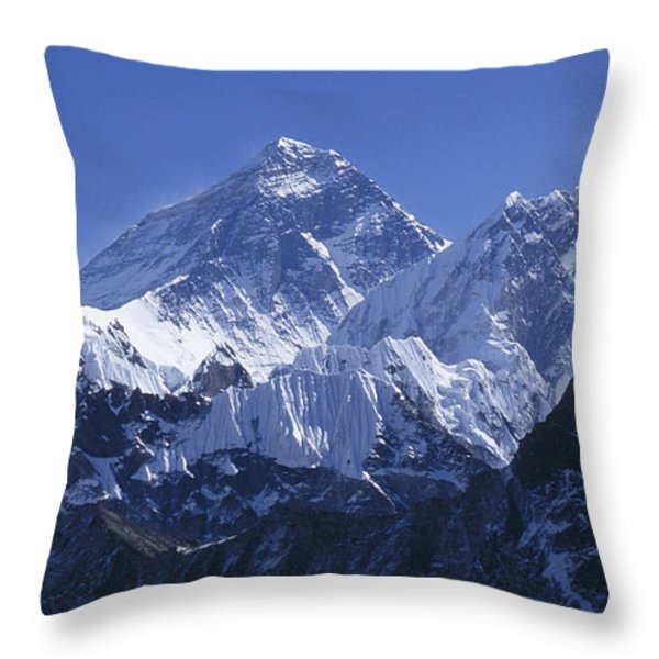 Mount Everest Nepal Throw Pillow by Rudi Prott