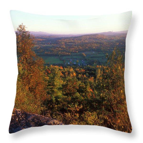 Mount Philo Foliage View Throw Pillow by John Burk