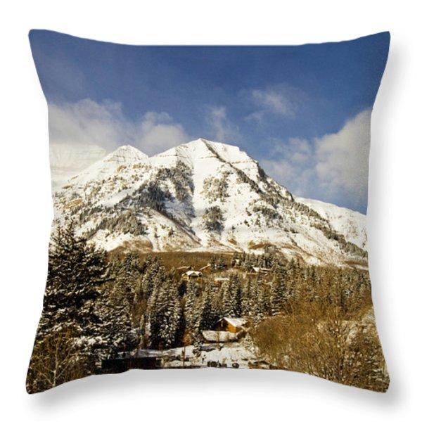Mount Timpanogos Throw Pillow by Scott Pellegrin