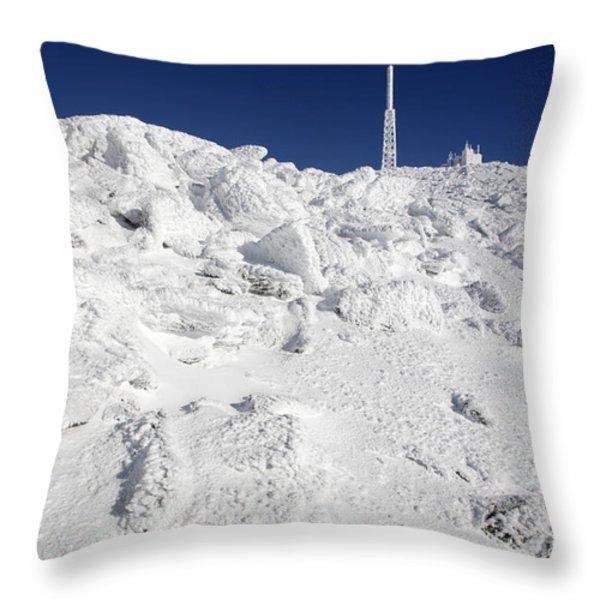 Mount Washington New Hampshire - Rime Ice Throw Pillow by Erin Paul Donovan