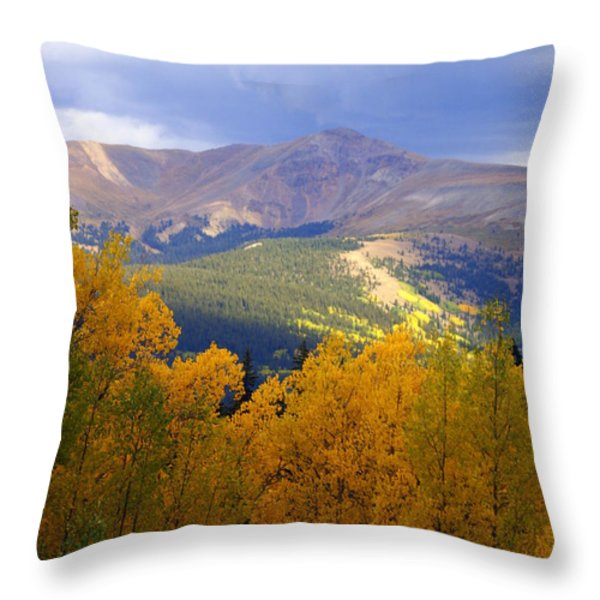 Mountain Fall Throw Pillow by Marty Koch