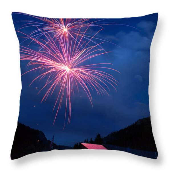 Mountain Fireworks landscape Throw Pillow by James BO  Insogna