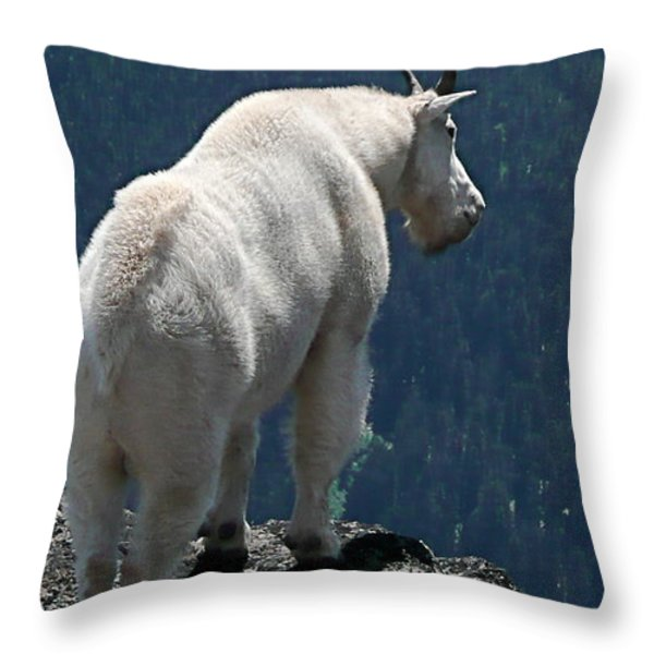Mountain goat 2 Throw Pillow by Sean Griffin