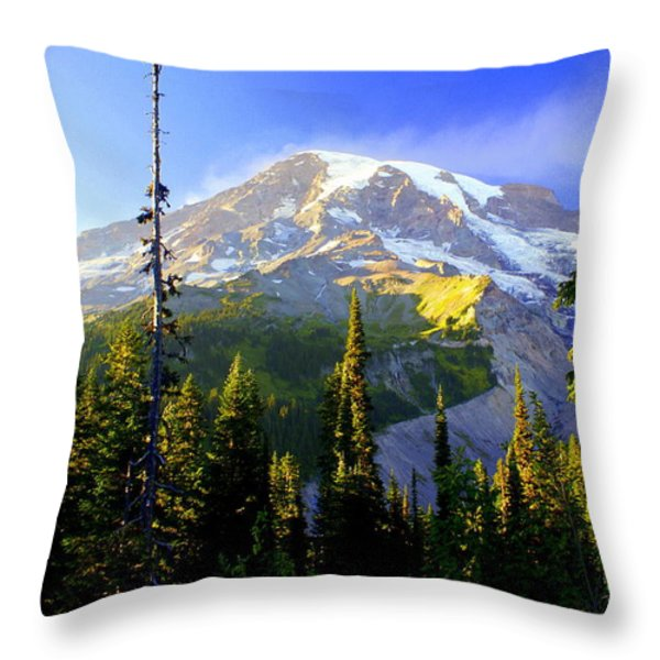 Mountain Sunset Throw Pillow by Marty Koch