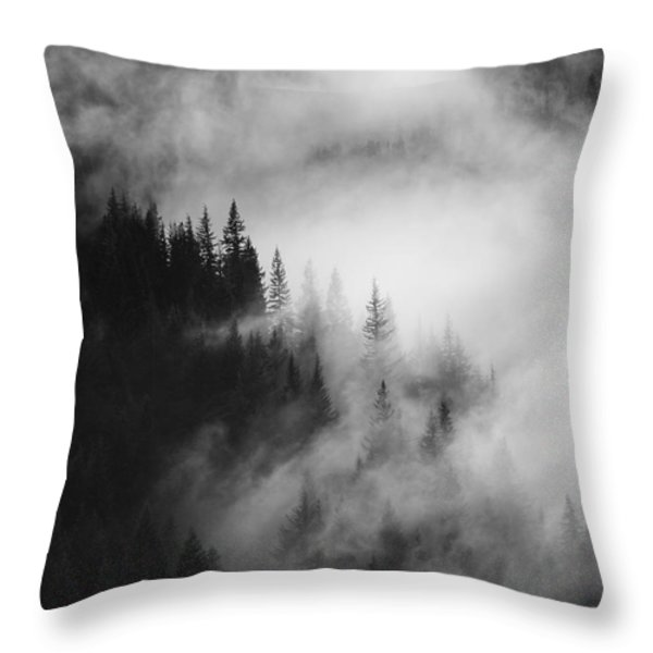 Mountain Whispers Throw Pillow by Mike  Dawson