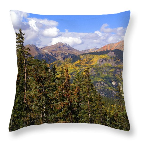 Mountains Aglow Throw Pillow by Marty Koch