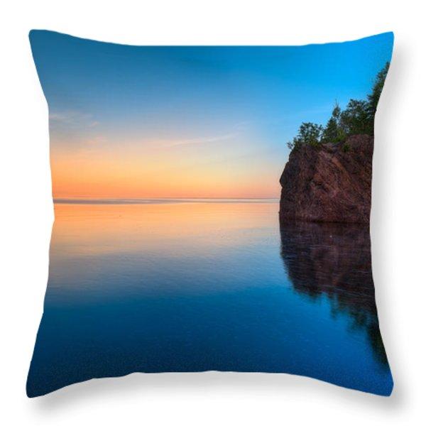 Mouth Of The Baptism River Minnesota Throw Pillow by Steve Gadomski