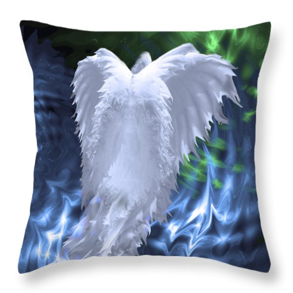 Moving Heaven and Earth Throw Pillow by Cathy  Beharriell