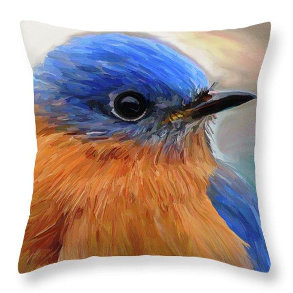 Mr. Blue Throw Pillow by Patti Siehien