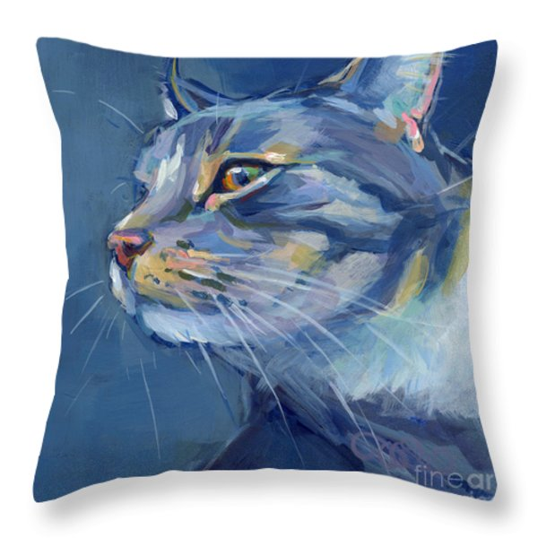 Mr. Waffles Throw Pillow by Kimberly Santini