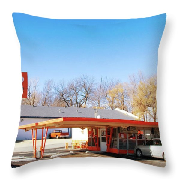 Mugs Up Root Beer Throw Pillow by Andee Design