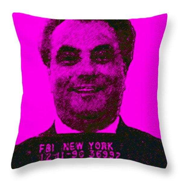 Mugshot John Gotti m88 Throw Pillow by Wingsdomain Art and Photography