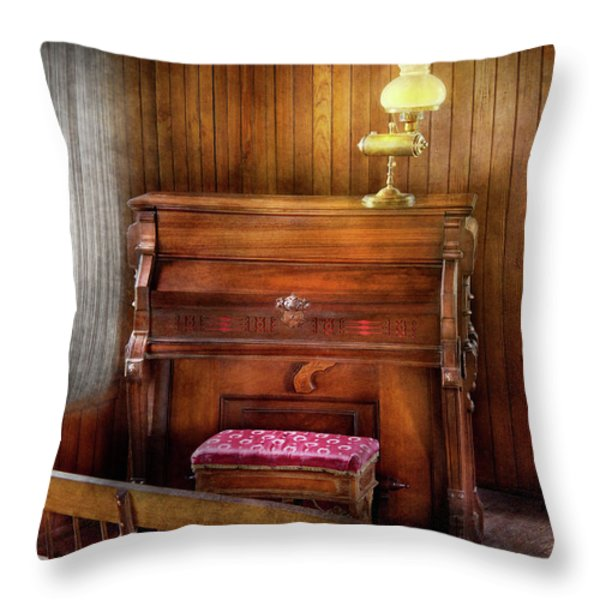 Music - Organist - A Vital Organ Throw Pillow by Mike Savad
