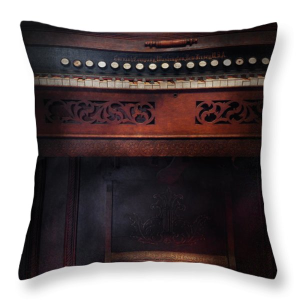 Music - Organist - Do not mortgage the farm Throw Pillow by Mike Savad