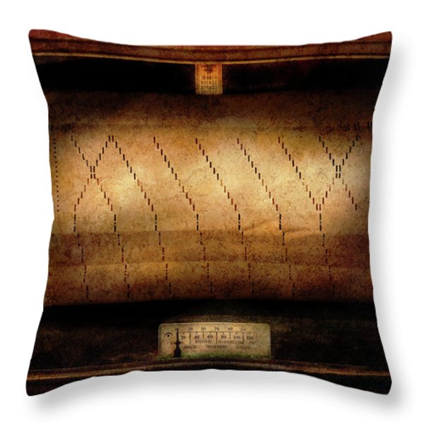 Music - Piano - Binary Code  Throw Pillow by Mike Savad