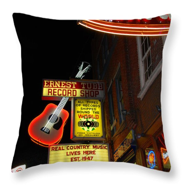 Music City Nashville Throw Pillow by Susanne Van Hulst