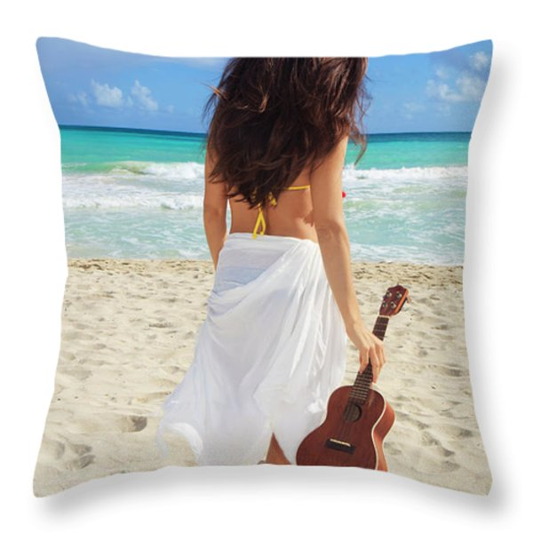 Musicians Paradise Throw Pillow by Tomas Del Amo - Printscapes
