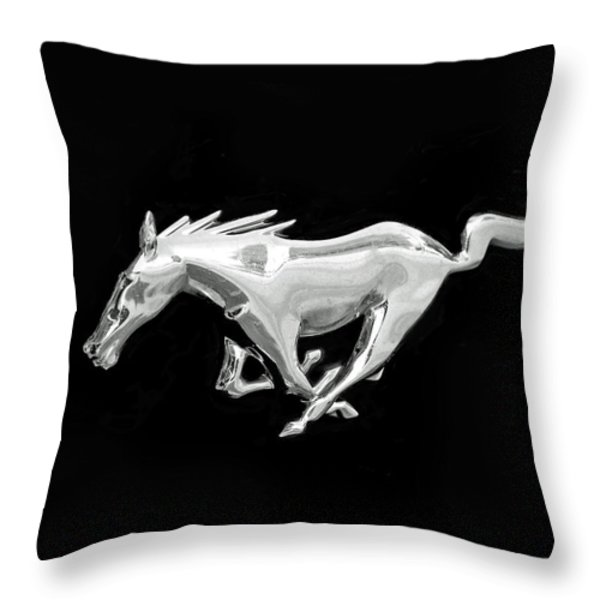 Mustang Throw Pillow by Rona Black