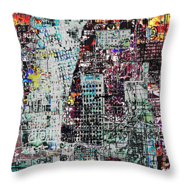 Mutually Assured Throw Pillow by Andy  Mercer