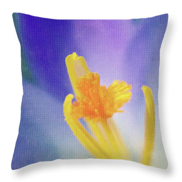 My crocus III Throw Pillow by Angela Doelling AD DESIGN Photo and PhotoArt
