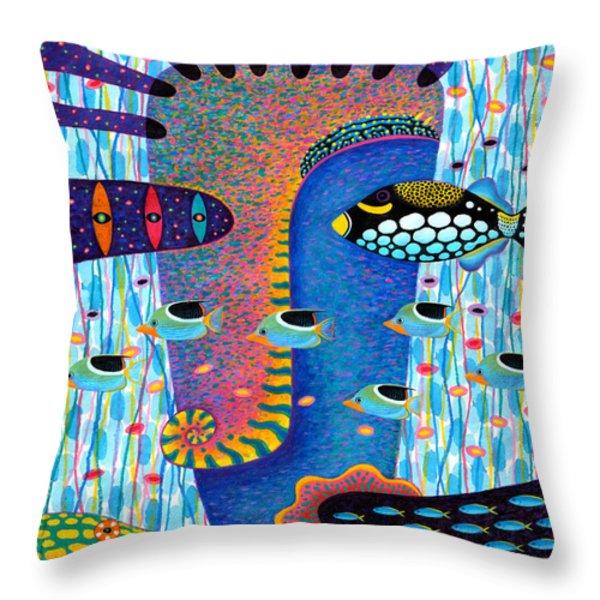 My Self 1 Throw Pillow by Opas Chotiphantawanon