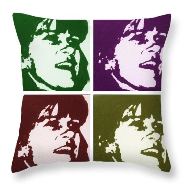 MY SISTER SHARON Throw Pillow by Robert Margetts