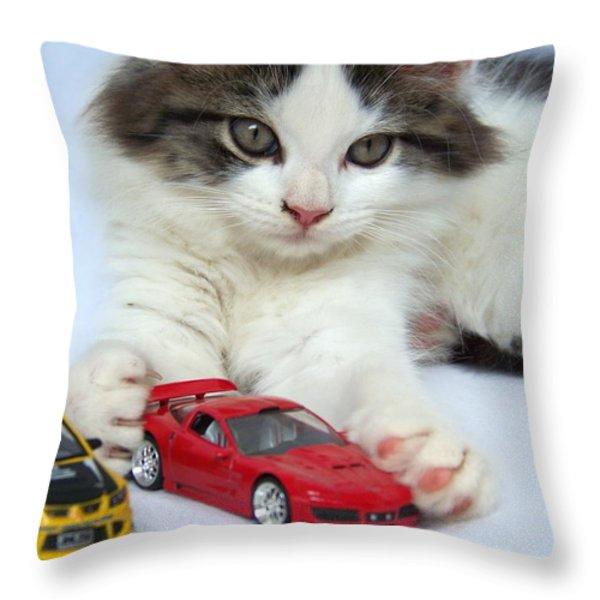 My Toys Throw Pillow by Jai Johnson