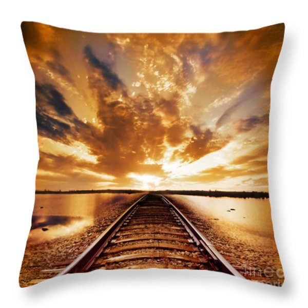 My Way Throw Pillow by Photodream Art