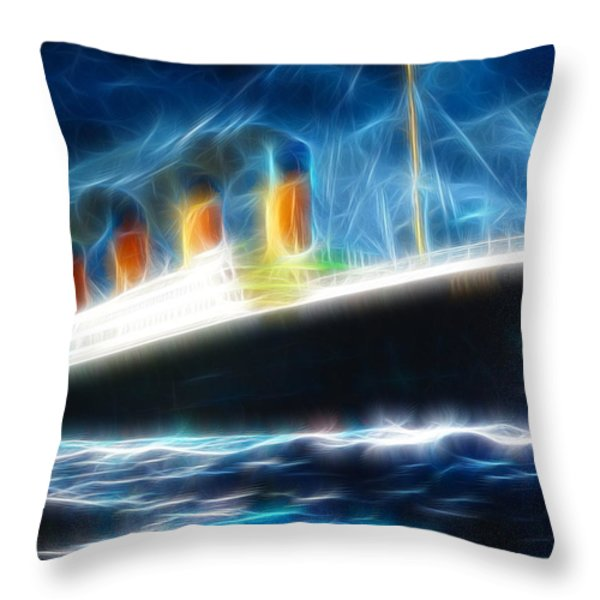 Mystical Titanic Throw Pillow by Paul Van Scott