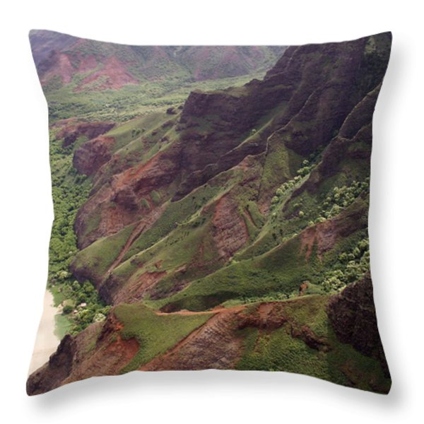 Na Pali Coast Throw Pillow by Amy Fose