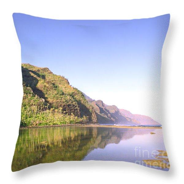 Na Pali Coast  Kauai Throw Pillow by Kevin Smith