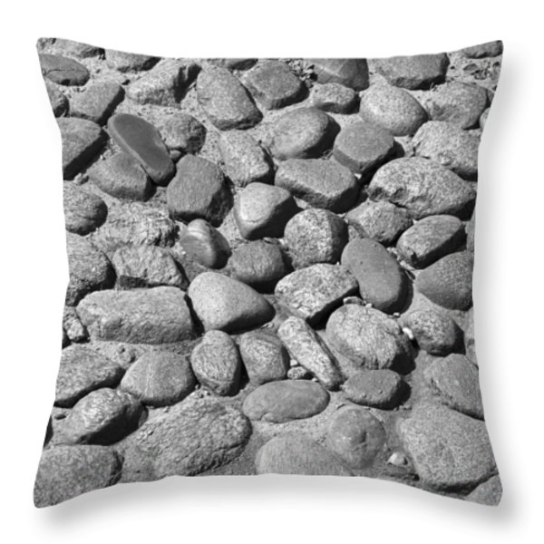 Nantucket Cobblestones Throw Pillow by Charles Harden